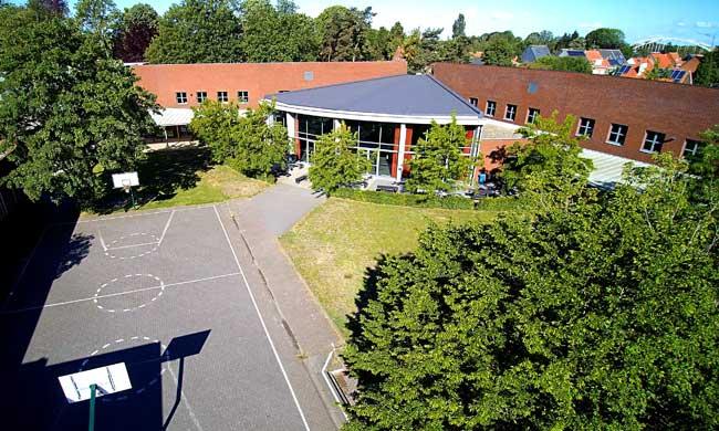 school bovenaanzicht